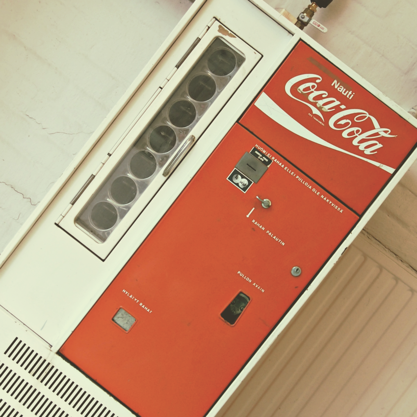 vintage, coca cola, vending machine
