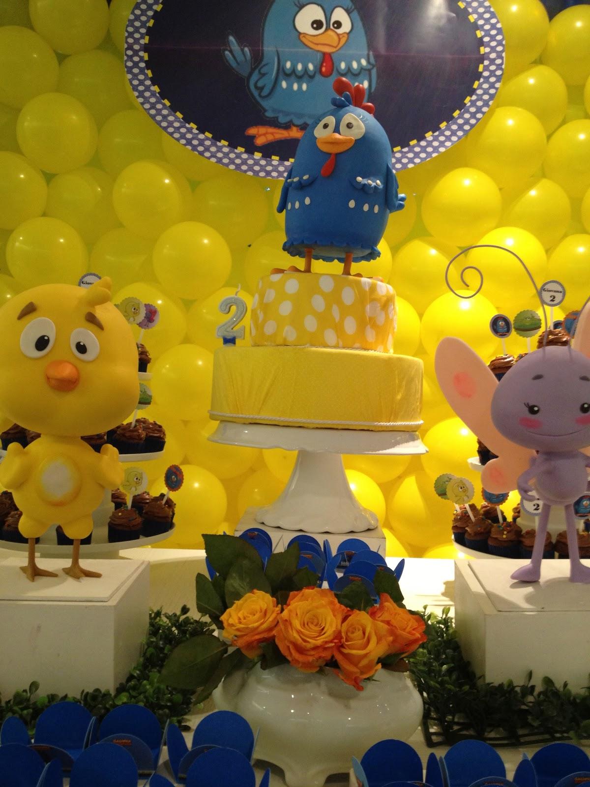 decoracao galinha pintadinha azul e amarelo:Festa Azul E Amarelo