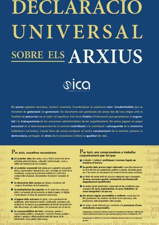 DECLARACIÓ UNIVERSAL D'ARXIUS