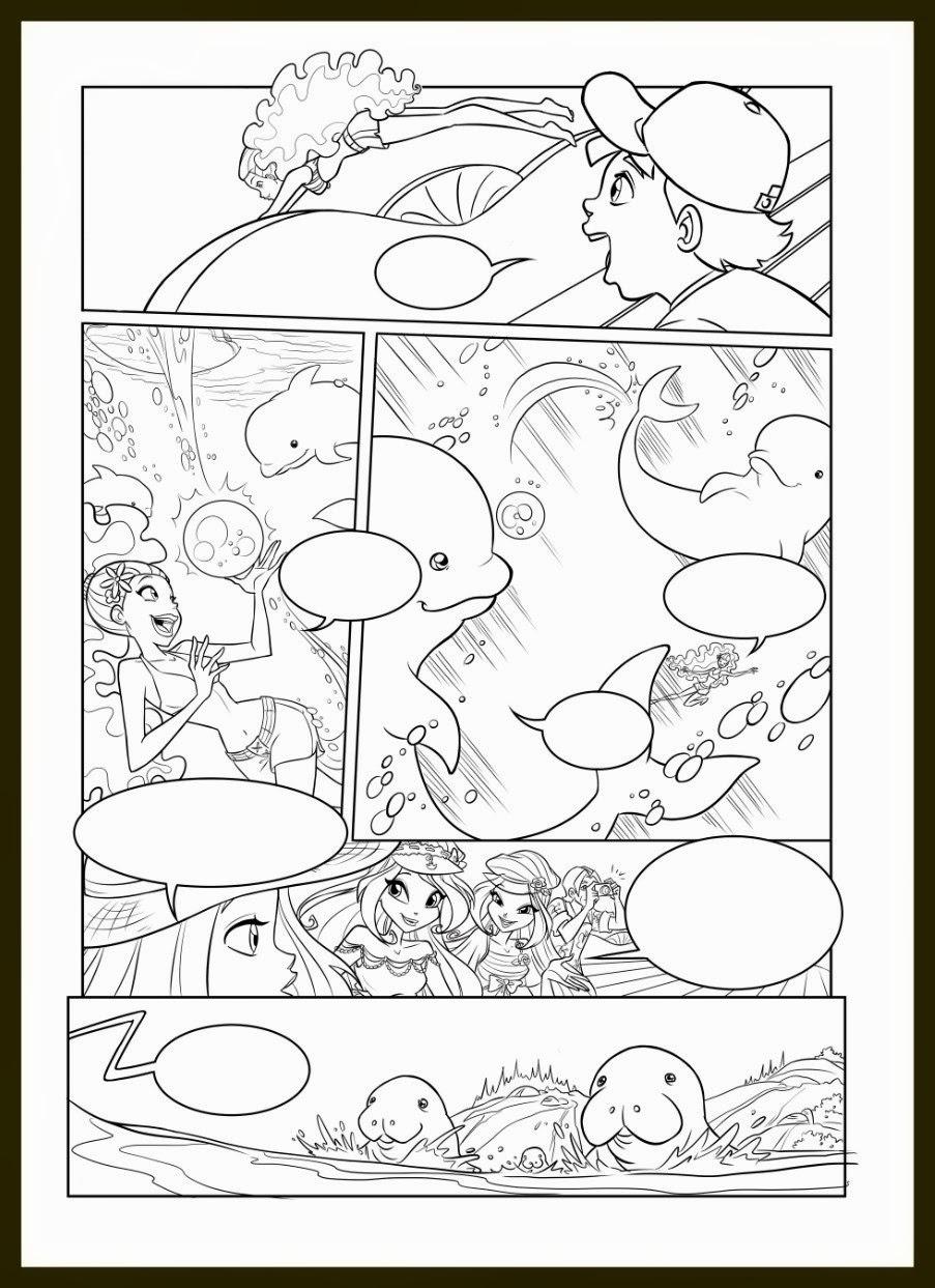 Winx Club All: Colorear: Colorea un cómic oficial del Winx Club Sirenix