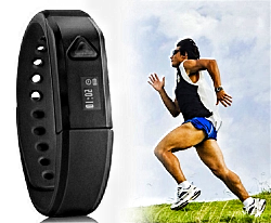 Idonn X5 IP67 Bluetooth V4.0 Smart Wristband Bracelet with Sports & Sleep Tracking (Black)