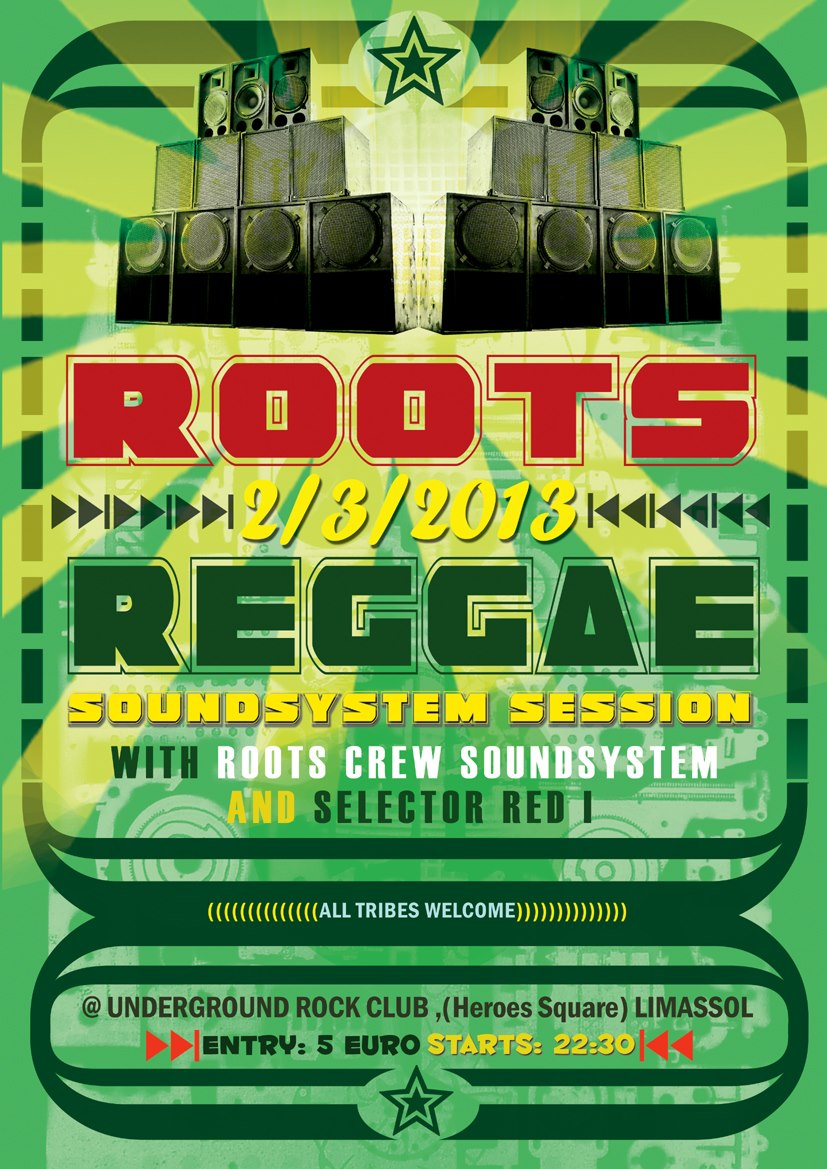 Cyprus Dub Community ROOTS CREW SOUNDSYSTEM MEETS SELECTOR RED I