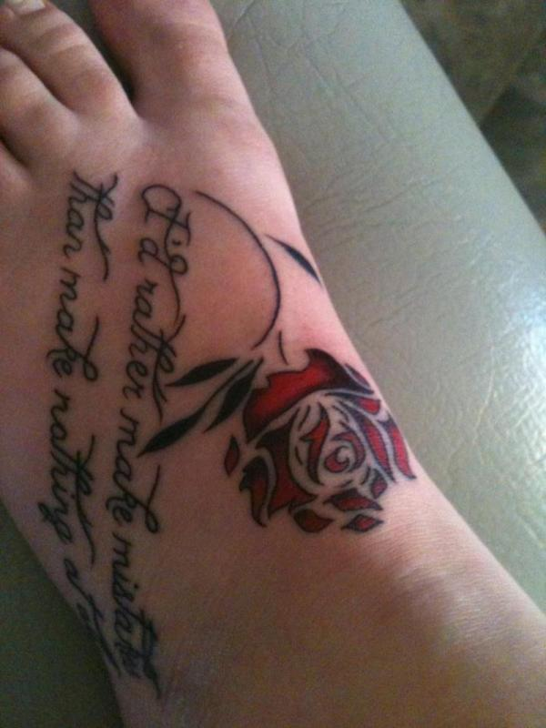 tattoo art styles foot tattoo quotes. Black Bedroom Furniture Sets. Home Design Ideas