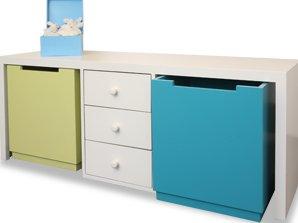 Marzua mueble juguetero - Baul para guardar juguetes ninos ...