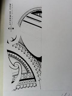 Samoan shoulder tattoo design sketch maori style