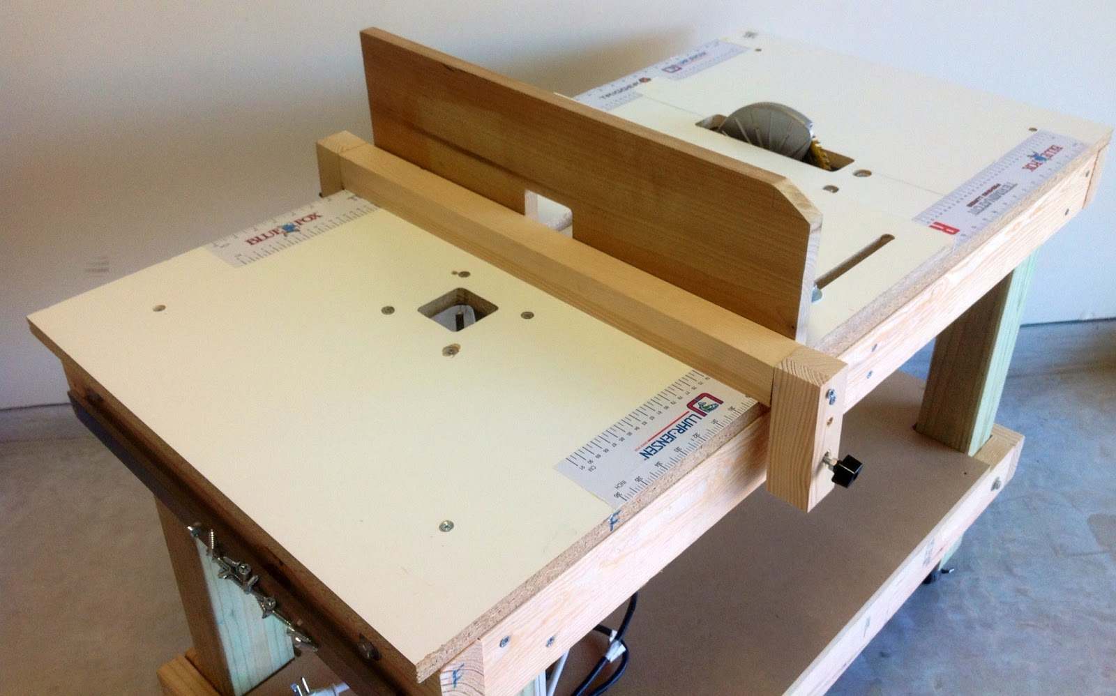 ... DIY Portable 3-in-1 Workbench / Table Saw / Router Table Combo