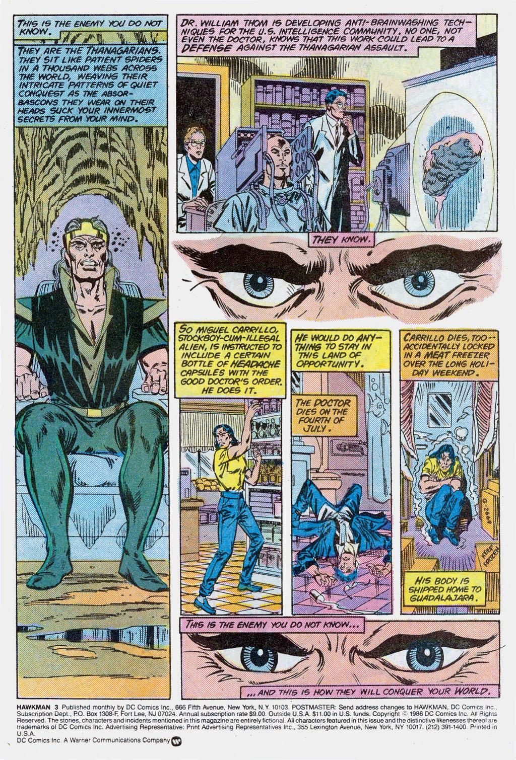 Hawkman (1986) Issue #3 #3 - English 3