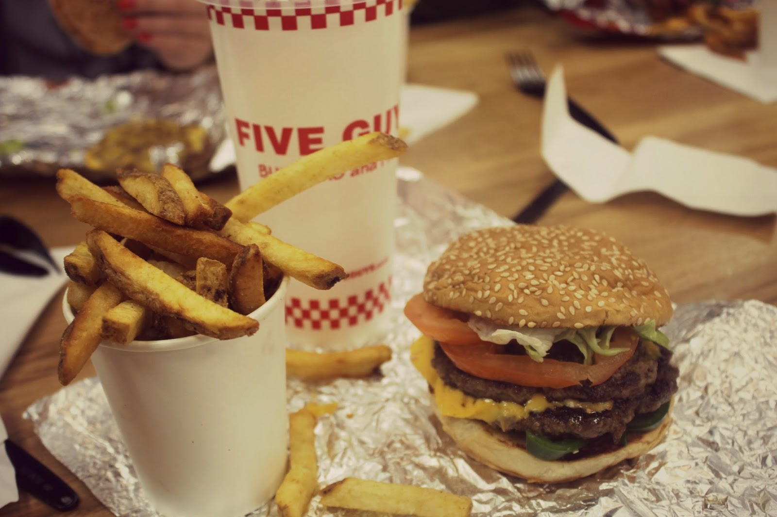 food at five guys in leeds