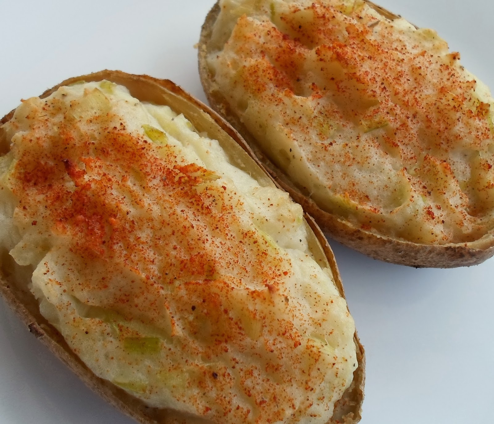 ... Than A Pig In Mud: Twice Baked Potatoes with Leeks-Smoked on the Grill