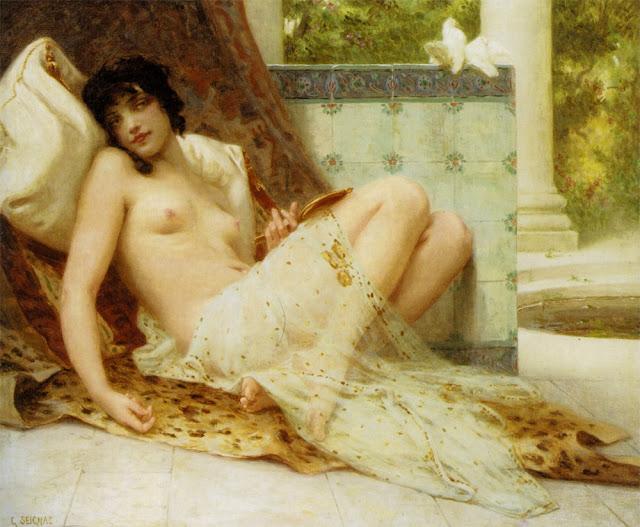 Lodalisque,Guillaume Seignac,beautiful girl