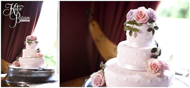 cath kidson inspired cake, ellingham hall, ellingham hall wedding, northumberland wedding photographer, newcastle wedding photographer, ceremony signs, paper pom poms, quirky wedding photography, katie byram photography, diy wedding