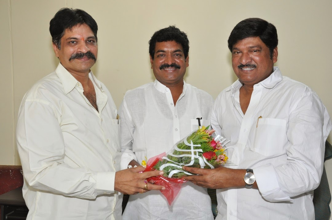 Maa President Rajendra Prasad Felicated by Tammineni and Others-HQ-Photo-4