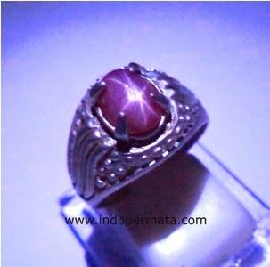 batu permata ruby star-merah delima-batu mulia-natural-jual-asli ...