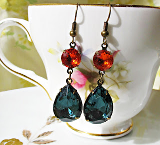 image glam it up kiahla earrings montana blue hyacinth orange