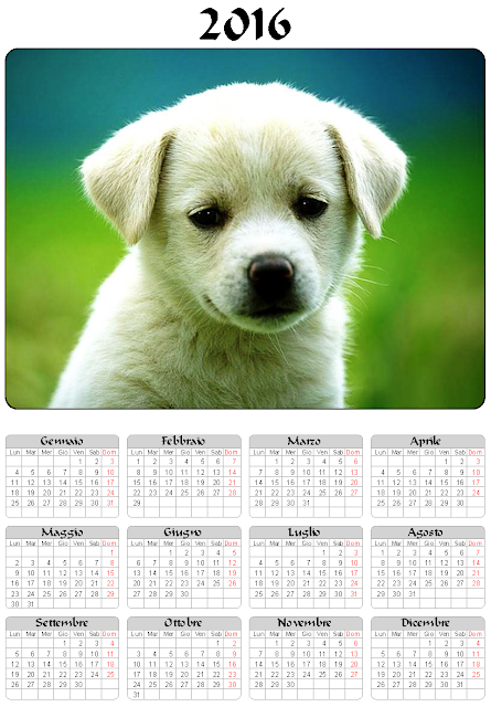 Calendario 2016 - Cane