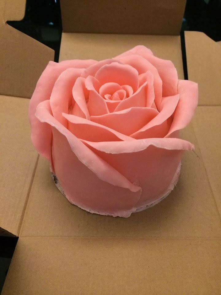 Shine Kids Crafts: 3D Big Rose Cake