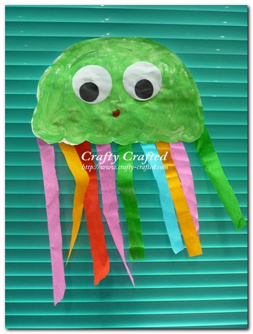 Paper Jellyfish Kids Craft   Munchkins and Mayhem