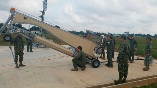 Inauguración de la Base de Lanzamiento de ART (BLART), en el Comando Aéreo de Combate No 6 de la Fuerza Aérea Colombiana