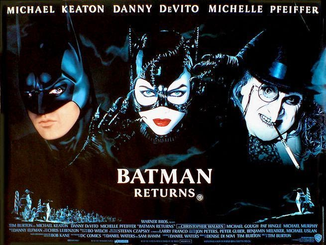 Batman returns con el pinguino y catwoman