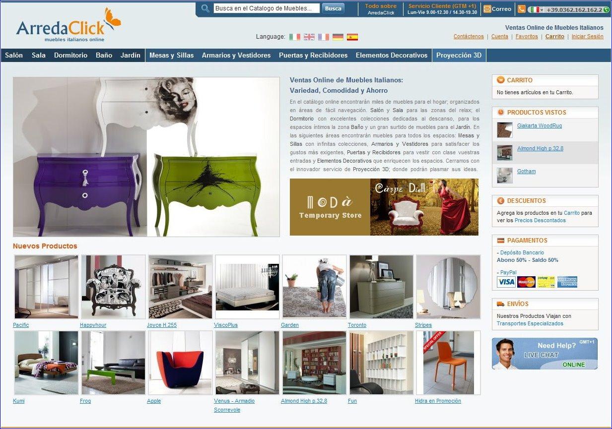 Arredaclick muebles italianos online diciembre 2011 for Muebles italianos online