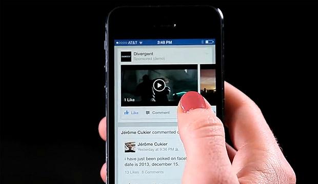 Facebook, közösségi oldal, videohirdetések, reklám