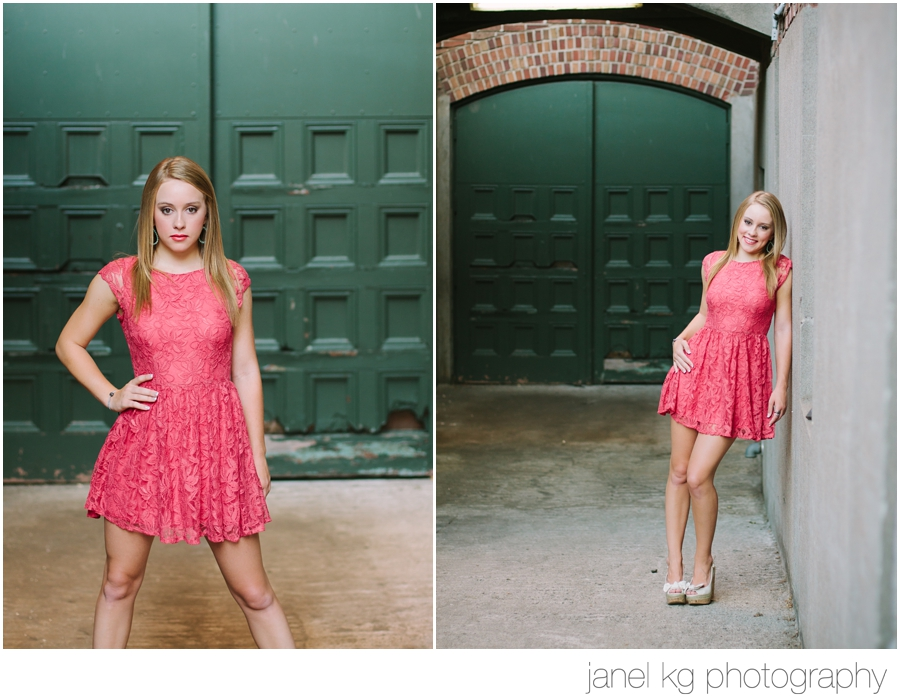 Audrey chose the perfect dress to wear for her Sacramento senior portrait session with Janel KG Photography
