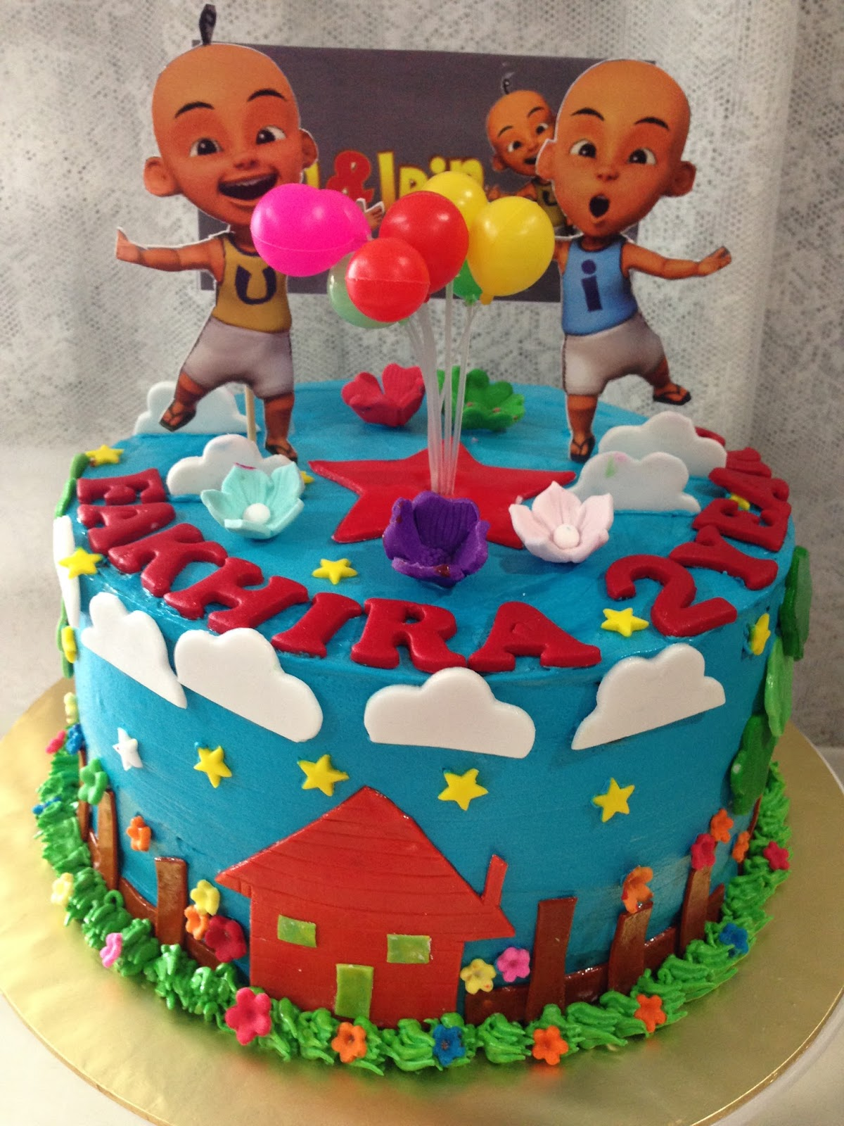 ninie cakes house: Upin Ipin Theme Cake