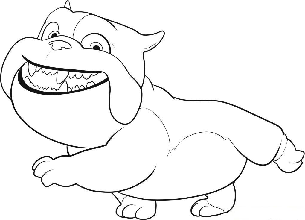 drawing coloring for child: Rio Bulldog Coloring Film