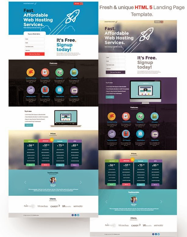 Best HTML5 Landing Page Template