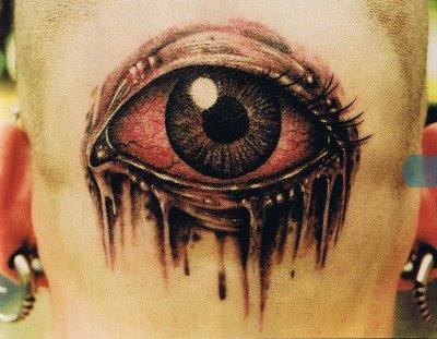 Tatuaje ojo sangrante