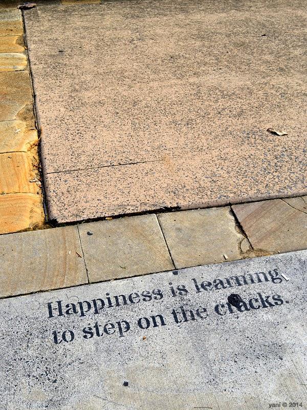 step on the cracks