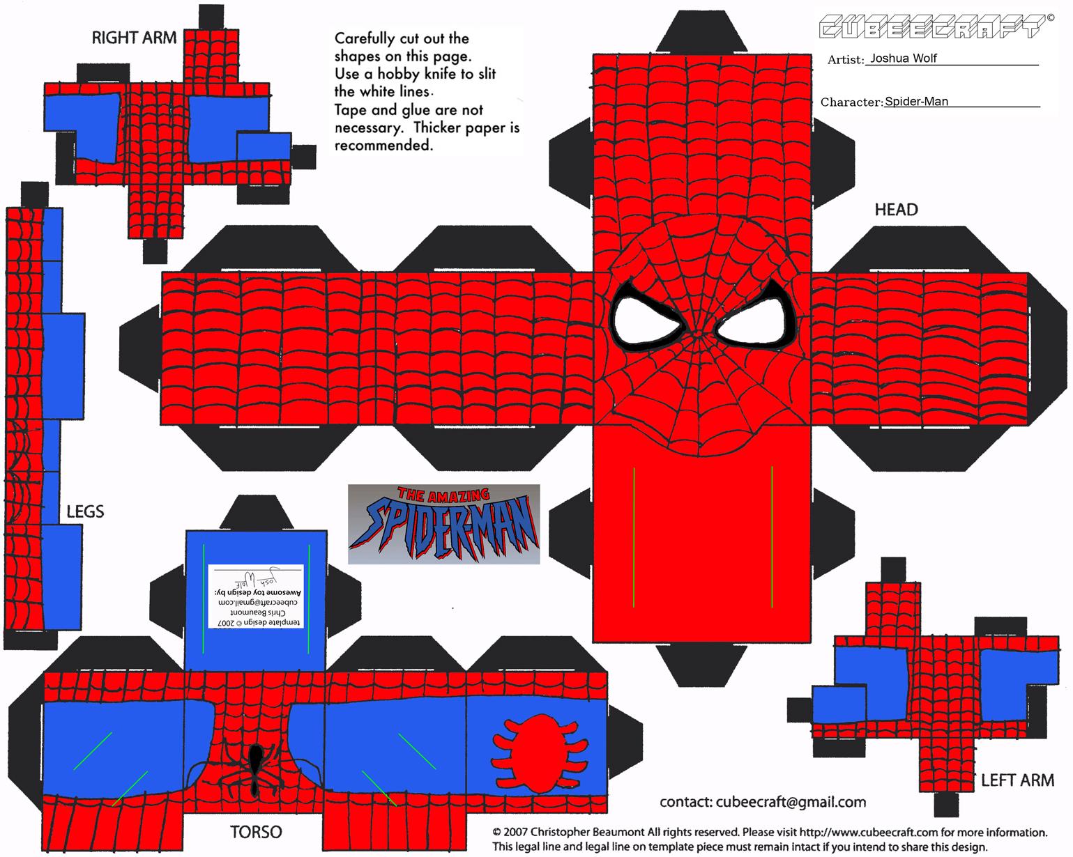Giochi di Carta: Spiderman / Uomo Ragno Paper toy
