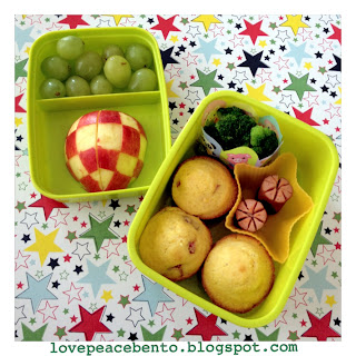 Corn dog muffins for kids bento lunch