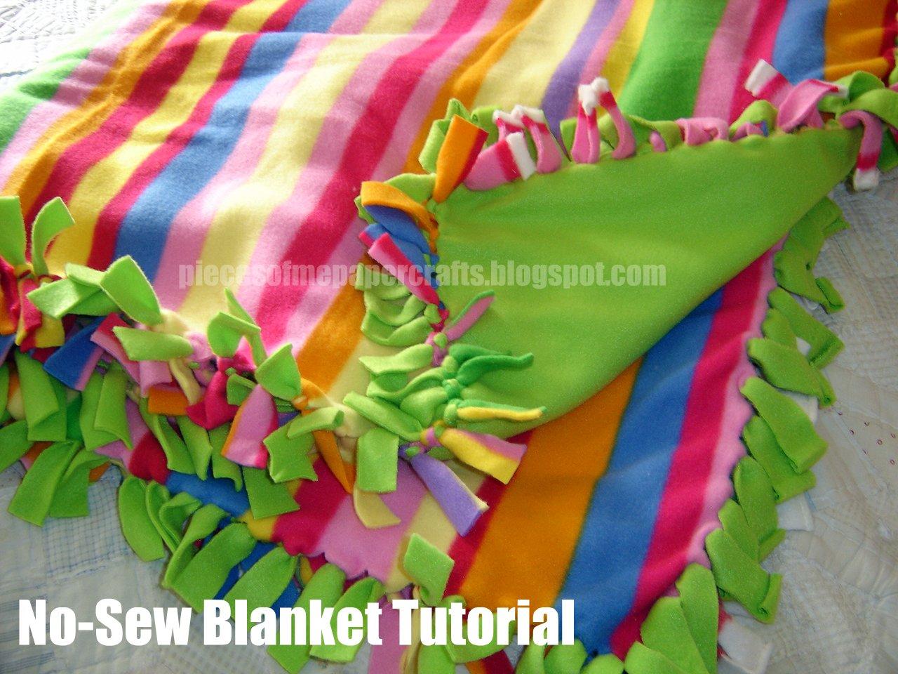pieces of me scrapbooking paper crafts no sew blanket tutorial