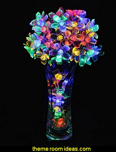 Solar Fairy String Lights  Multi-color Blossom Decorative Gardens, Lawn, Patio, Christmas Trees, Weddings, Parties, Halloween Lights Decoration, Indoor and Outdoor