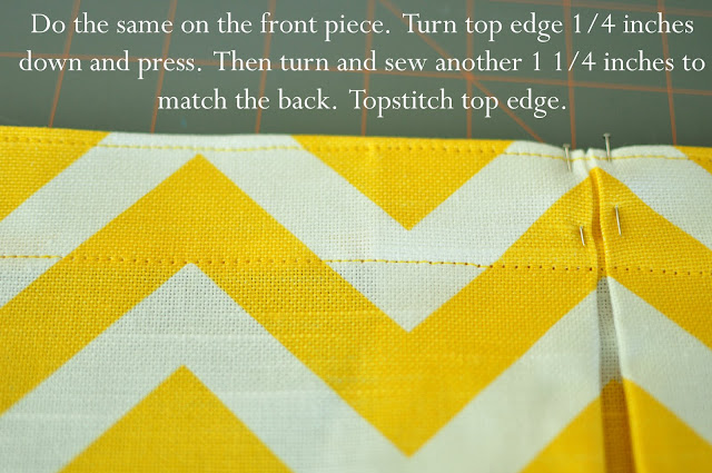 Summer yellow chevron skirt tutorial--simplesimonandco.com
