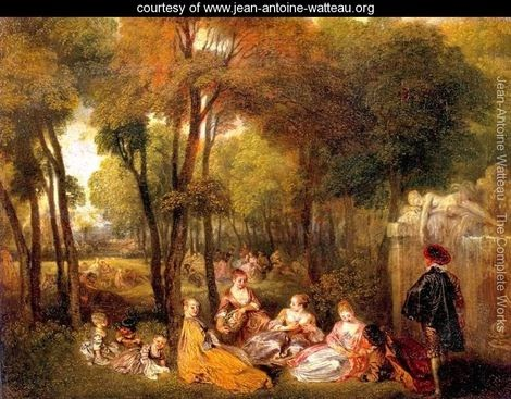 Art 236 the rococo period jean antoine watteau for Rococo period paintings