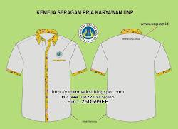 Kemeja seragam Personalia PRIA UNP