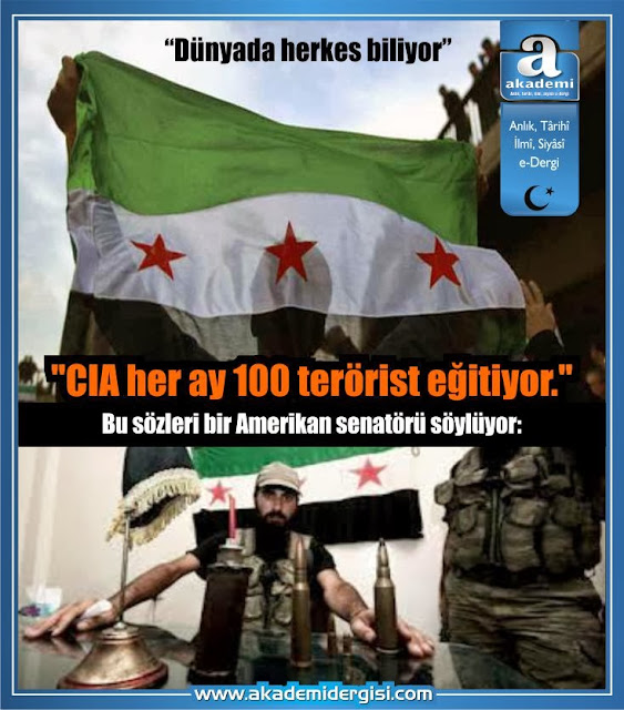 CIA her ay 100 terörist eğitiyor.