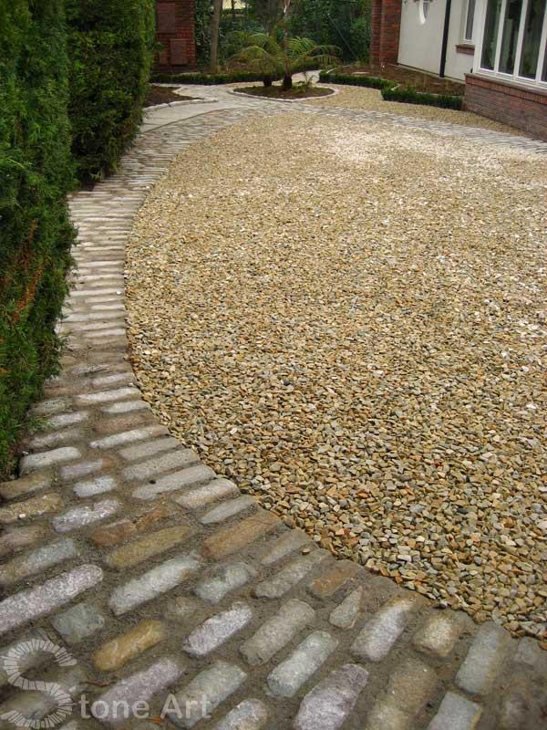 Paintings Of Cobblestone Paths : Stone art garden designers roundtable