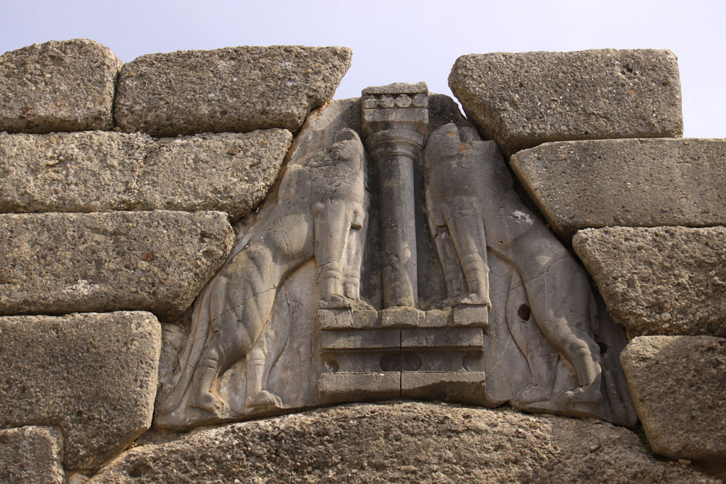Puerta de los Leones, Micenas, micénico, aqueo, Grecia, Pangea, Historia Antigua, prehelenico