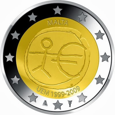 2 euro Malta 2009, Ten years of Economic and Monetary Union and introduction of the Euro