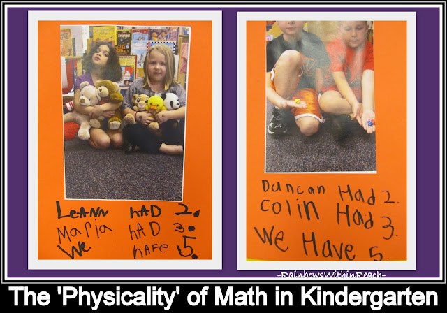 photo of: 'Physicality of Math' in Kindergarten -- Teamwork Captured in Photographs