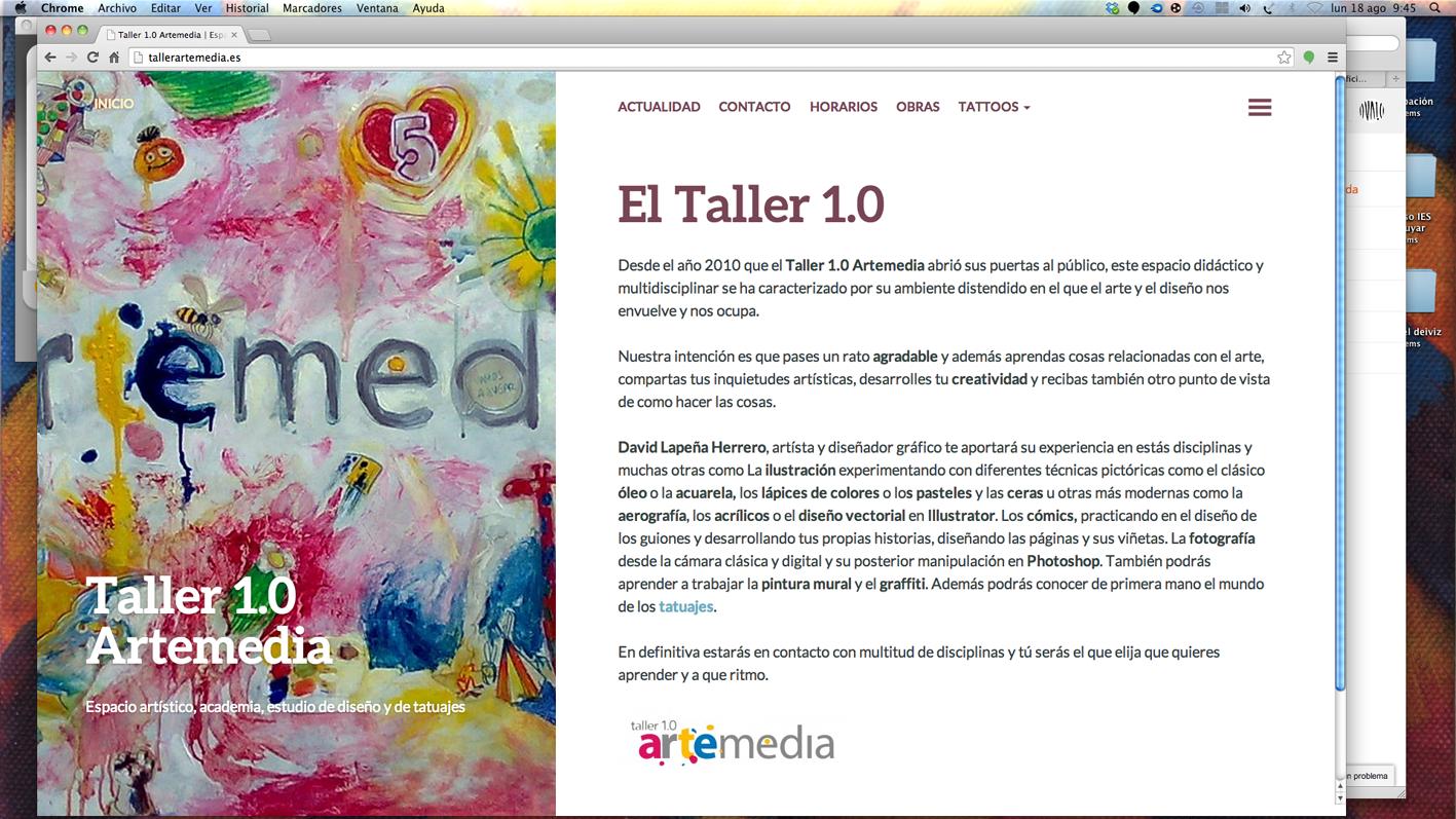 web taller 1.0 artemedia