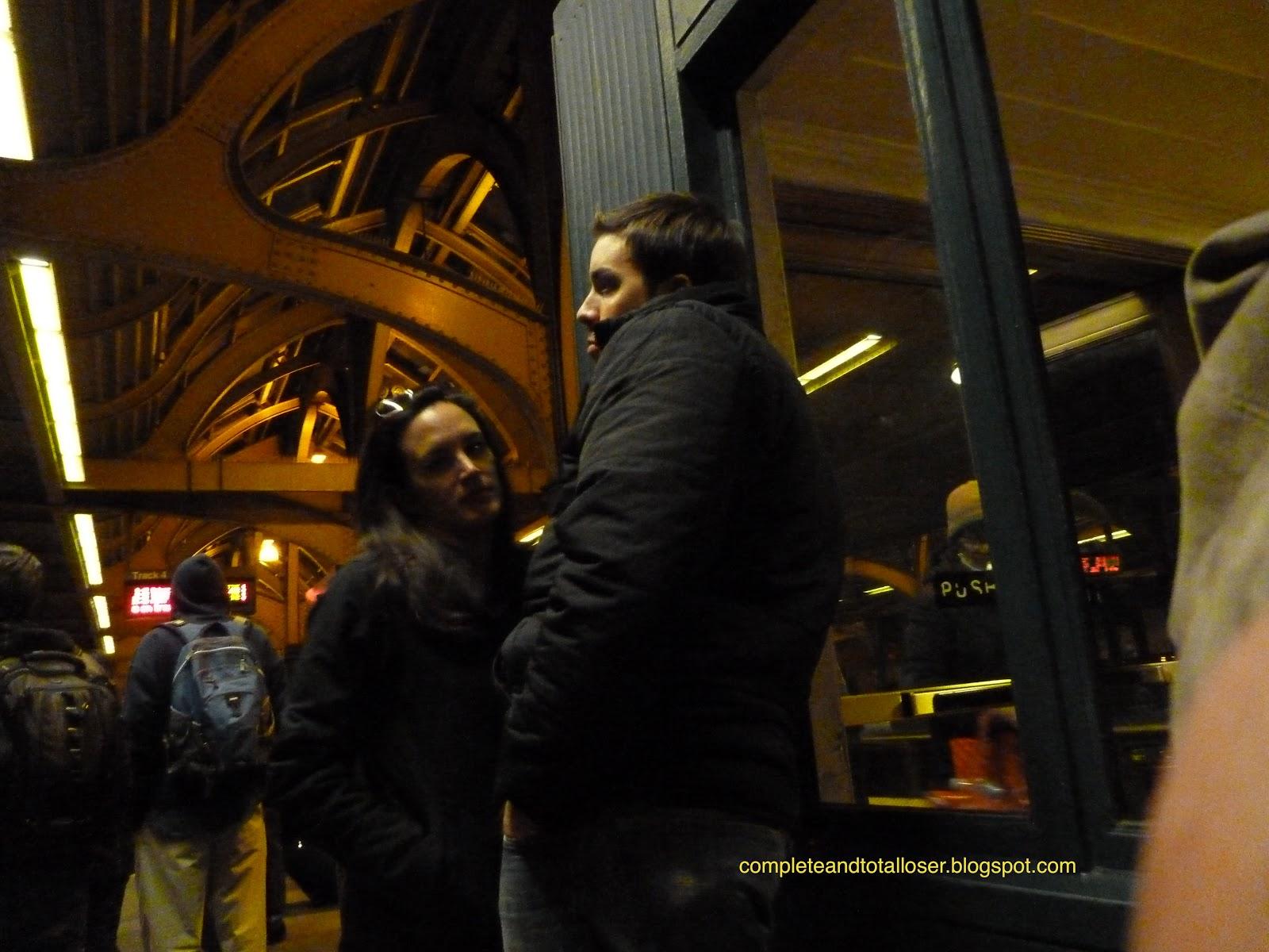 train platform couple
