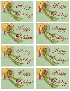digital christmas tags sheet