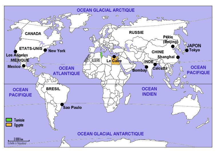 New York Ville Mondiale Carte