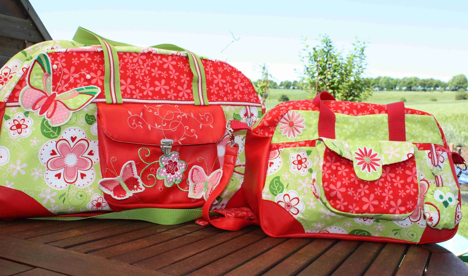 Learning by sewing: Im Little-Holiday-Bag-Fieber