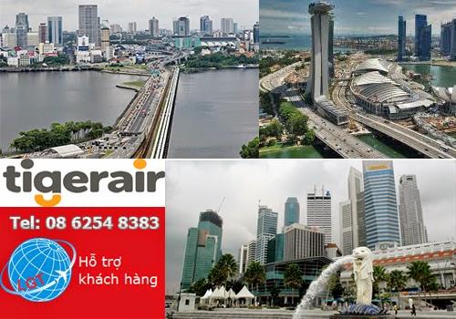 Tiger Air bán vé đi Singapore