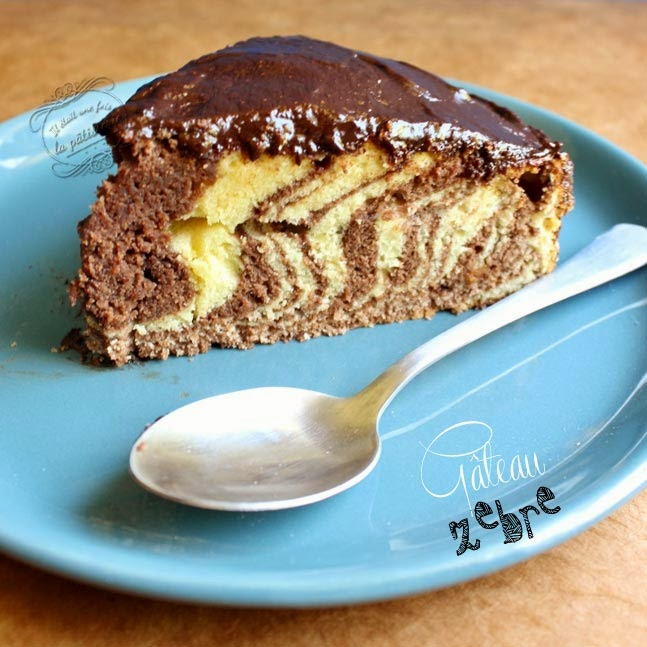 gâteau zèbre à rayures